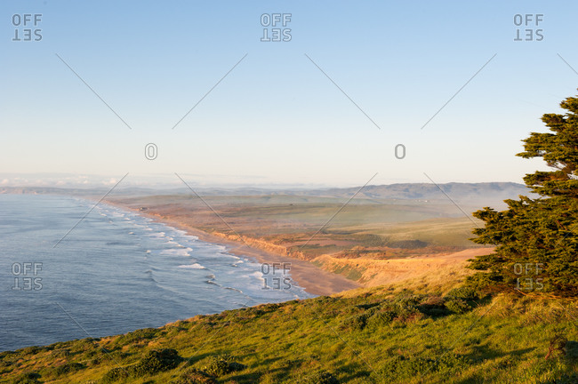 View of the shoreline of Point Reyes in California, USA