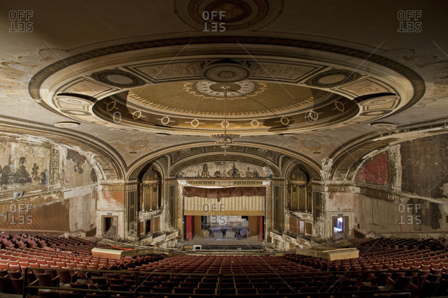 Bridgeport, Connecticut, USA - May 12, 2012: The auditorium of the Loew's Palace Theater