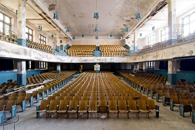 Abandoned auditorium interior
