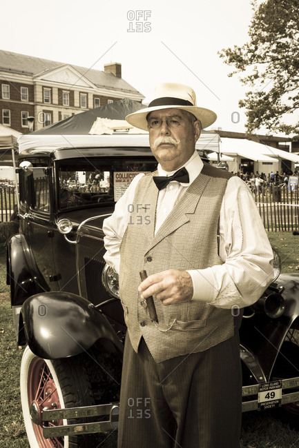 New York City, NY, USA - August 16, 2014: 1920's Jazz Age Lawn Party at Governors Island