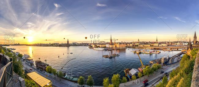 View from Monteliusvaegen at sunset, Stockholm
