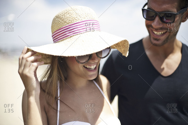 Couple at tropical resort