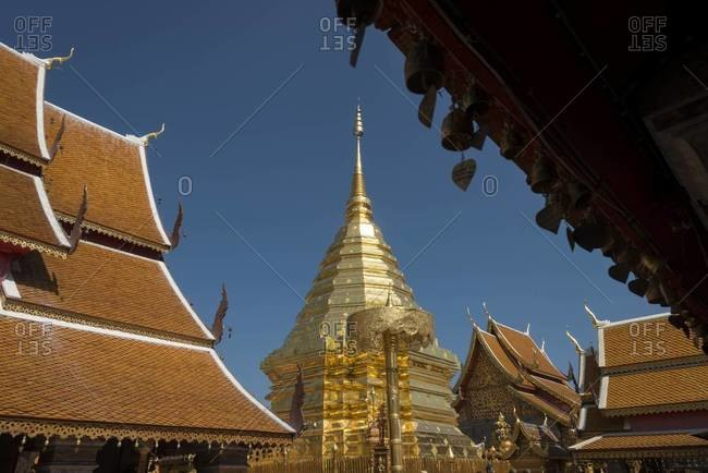 View of Wat Phra That Doi Suthep temple in Chiang Mai, Thailand