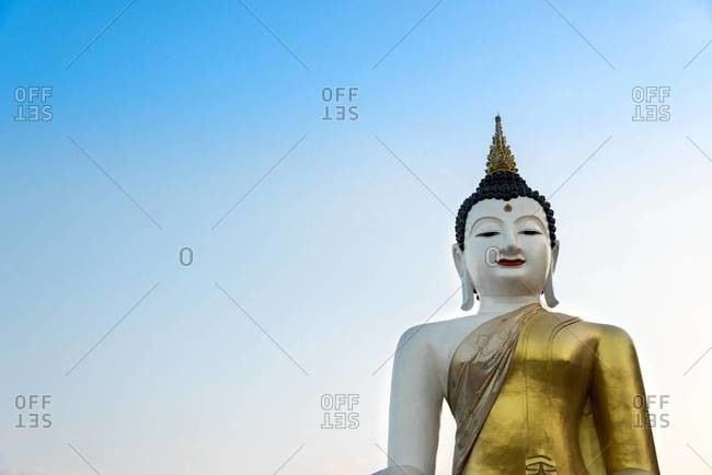 A large Buddha statue in Chiang Mai, Thailand