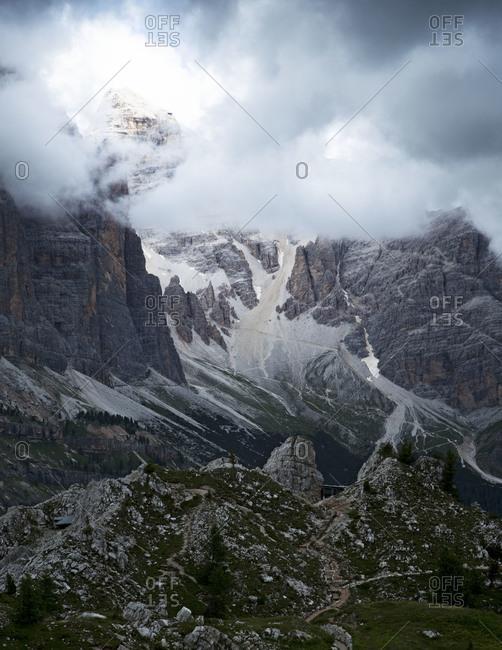 Landscape near Cinque Torri, Cortina D'Ampezzo, Italy