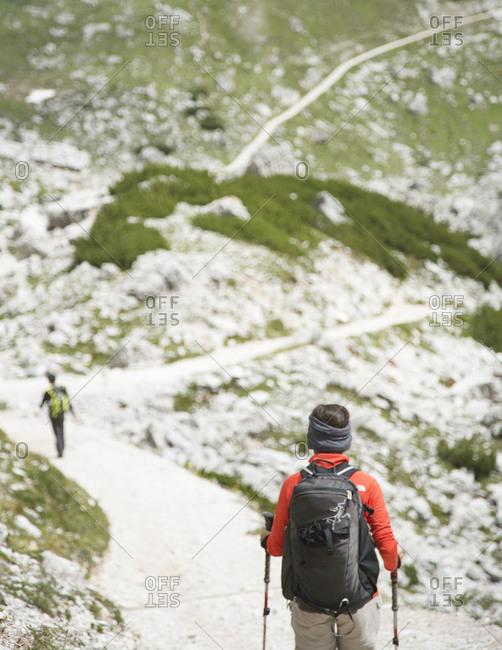 Hiking the Tre Cime di Lavaredo loop near Cortina D'Ampezzo, Italy