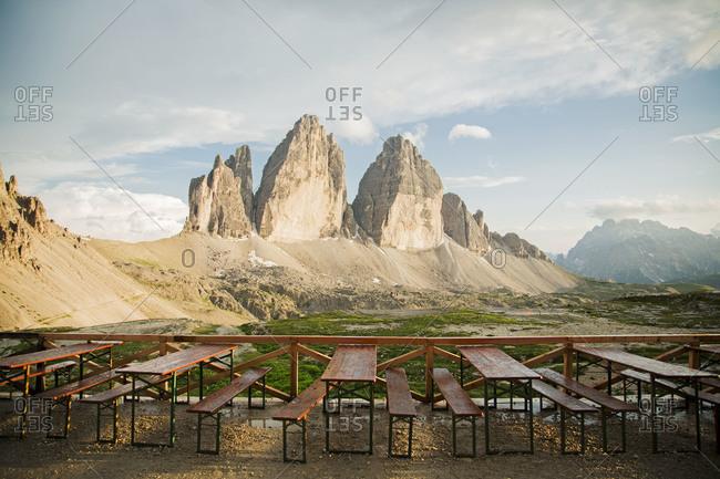 Tre Cime di Lavaredo near Cortina D'Ampezzo, Italy