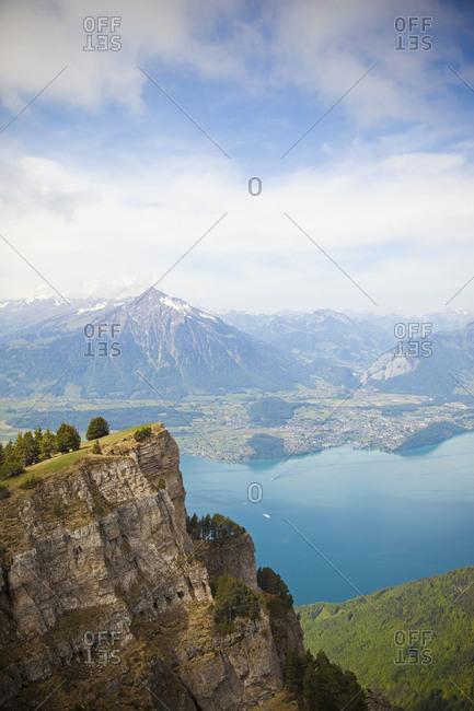 View from Niederhorn towards Lake Thun, Switzerland