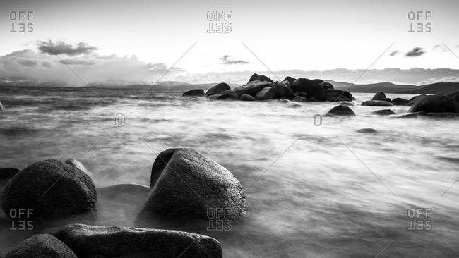 View of the East shore of Lake Tahoe, California, USA
