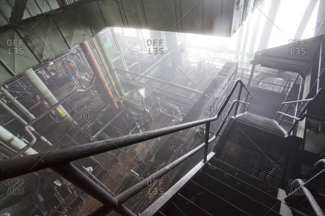 Interior of an abandoned power plant