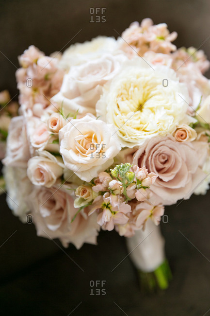 Close up of a bridal bouquet