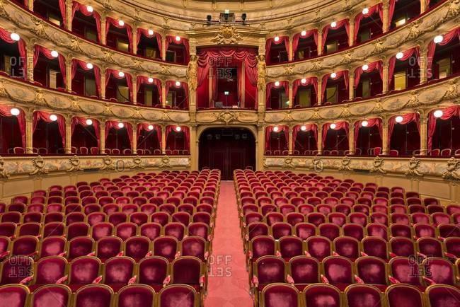 Traditional opera house interior