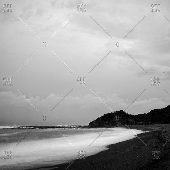 Sea and beach in the morning, Shirahama, Wakayama Prefecture, Japan
