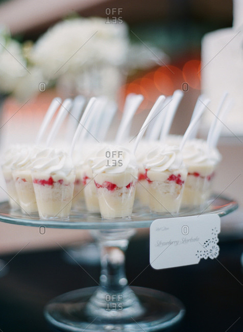 Strawberry shortcakes at a wedding reception