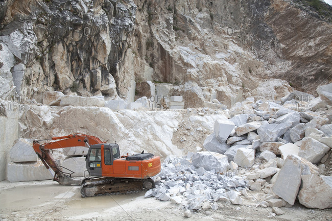 A Carraran marble quarry in Italy