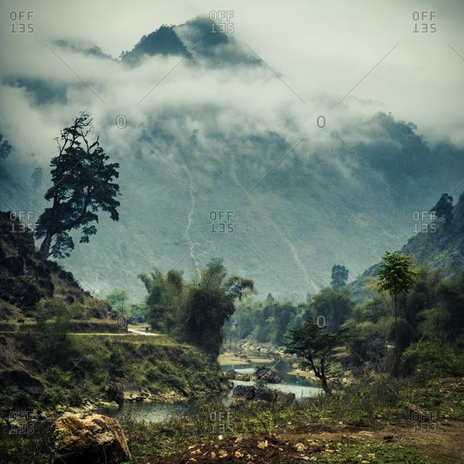 Mountain in a Vietnamese landscape