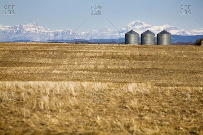 grain storage bin stock photos - OFFSET