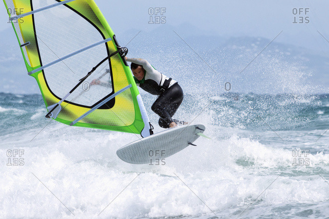 Windsurfing, Tarifa Cadiz Andalusia, Spain