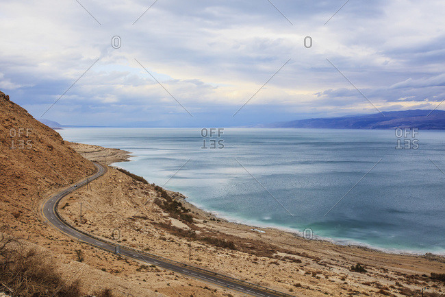Road along the dead sea, Jordan Valley, Israel