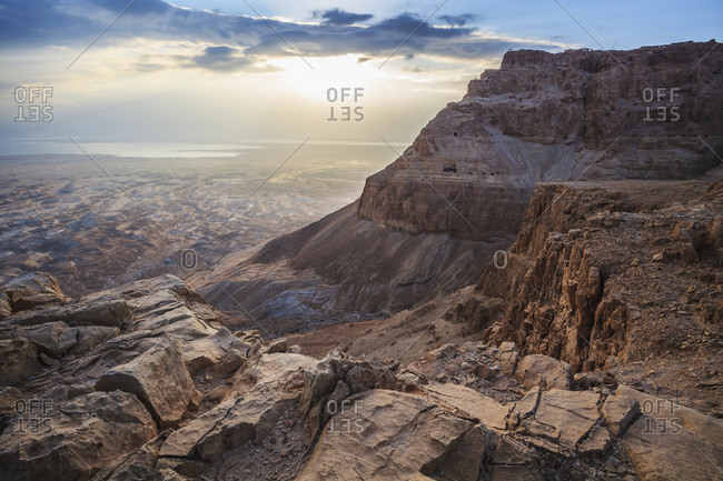 Sunrise over Masada, Israel