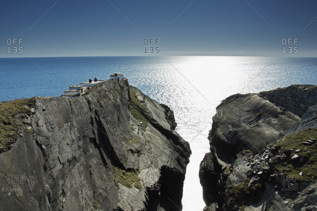 Mizen head signal station in West Cork, Ireland