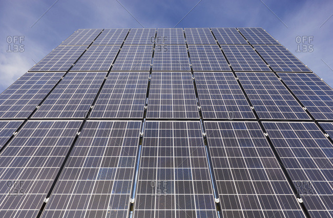 Detail of a photovoltaic solar panel
