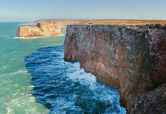 Cliffs along the coast, Sagres, Portugal