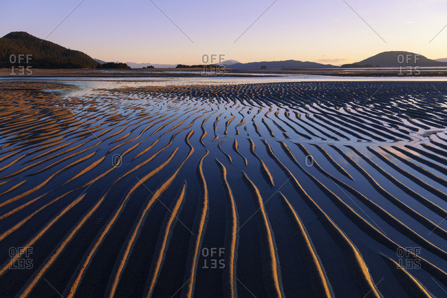 Ripples created by the action of wind, Eagle Beach State Recreation Area (near Juneau), Alaska