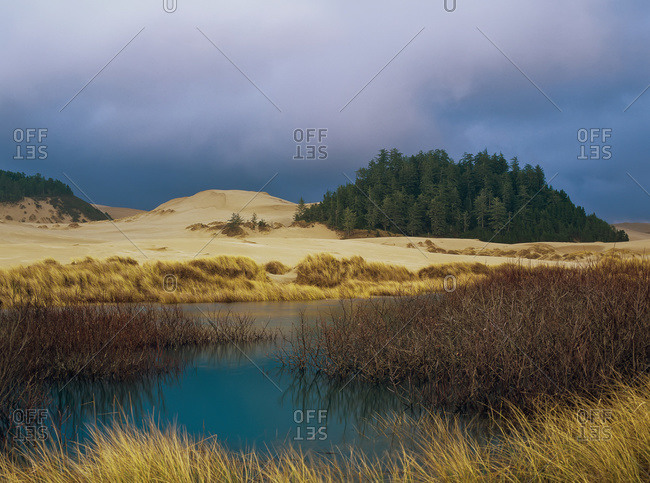 The clouds over Oregon Dunes National Recreation Area, Oregon