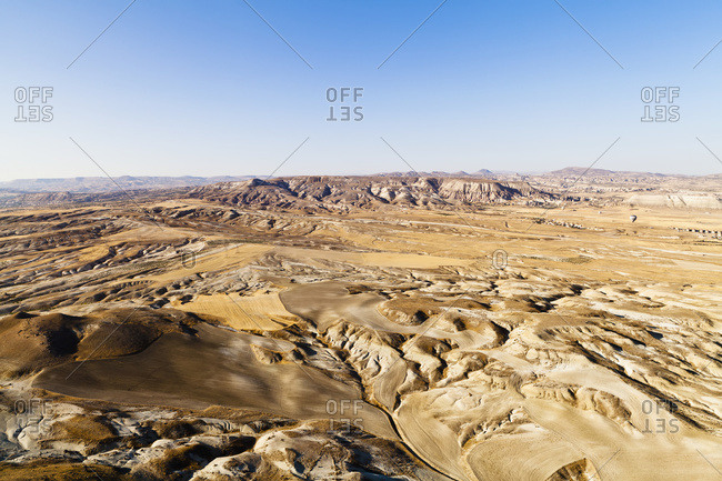 A rugged, barren landscape, Cappadocia, Turkey