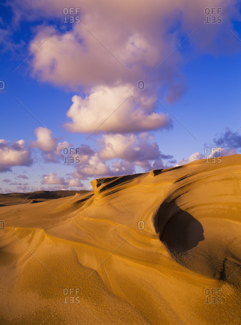 Clouds and dunes are shape-shifters, Lakeside, Oregon,