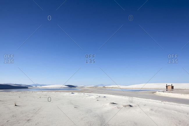 Landscape of a salt pan desert