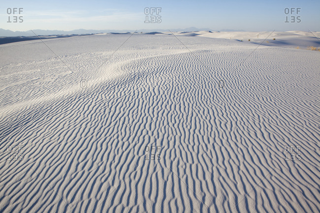 Ripples in a salt pan desert