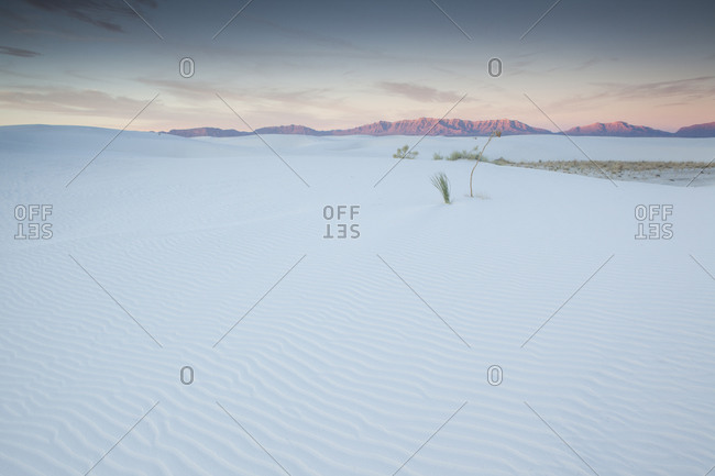 Sundown at White Sands National Monument