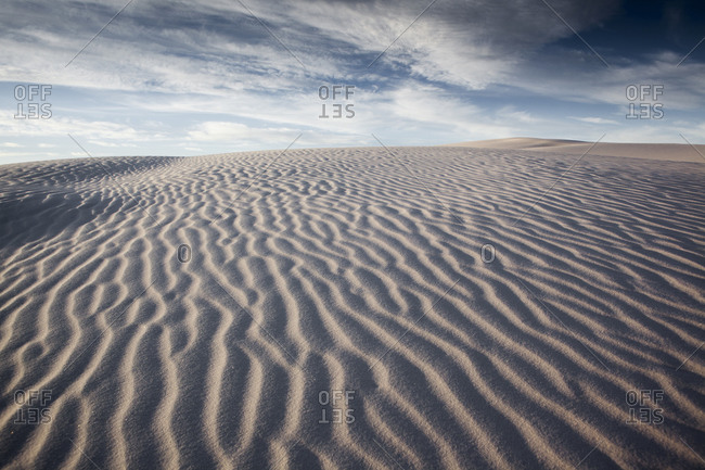 Ripples on sand dunes at White Sands National Monument
