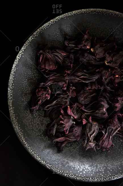 Dried sorrel or Roselle flowers