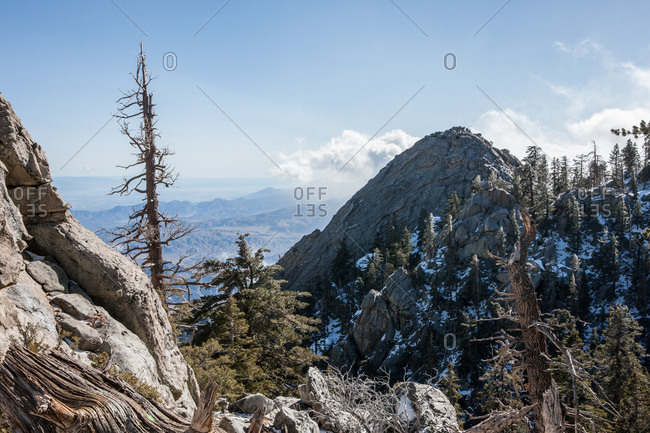 View of the San Jacinto mountains in California, USA