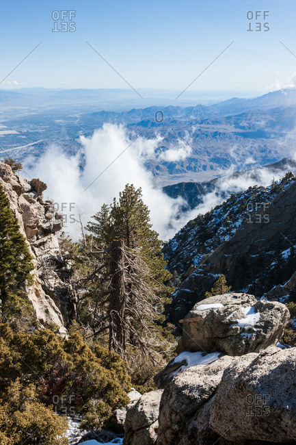 Landscape of the San Jacinto mountains in California, USA