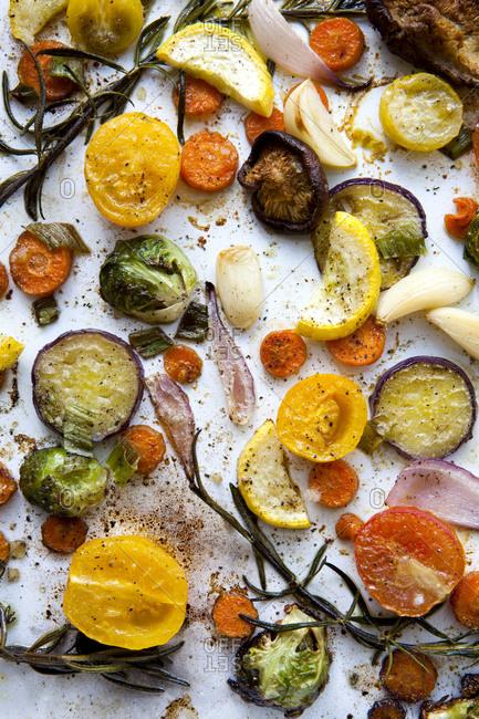 Roasted seasoned vegetables