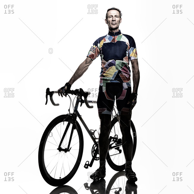 Man posing with his bicycle
