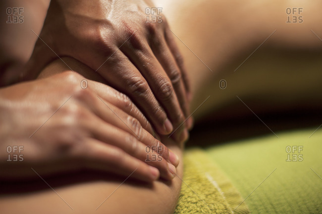 Salon , back massage