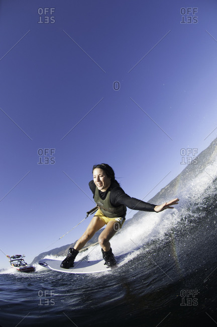 Woman wakeboarding in Penticton, Canada