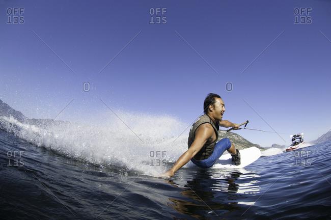 Man wakeboarding in Penticton, Canada