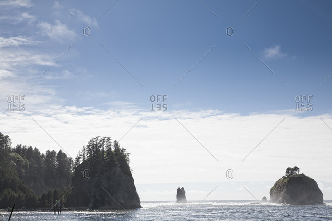 Islets in the ocean in La Push, USA