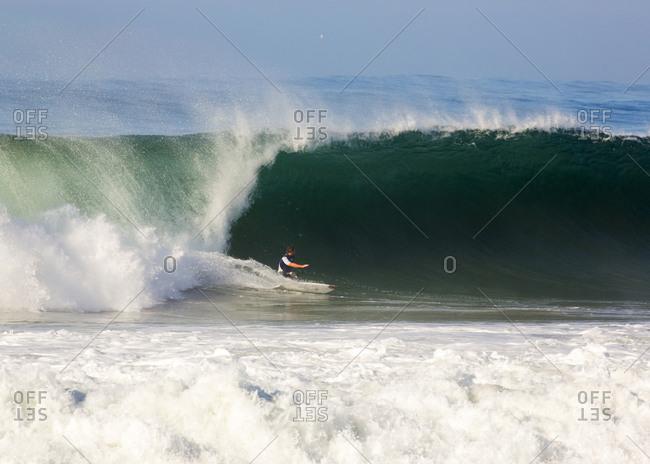 Man surfing on the ocean