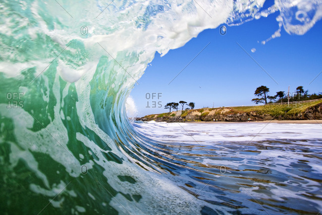 View of a breaking wave on a coast