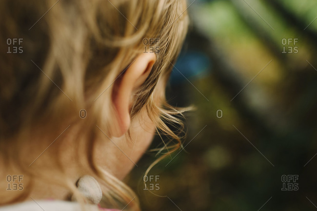 Close up of a young girl's head