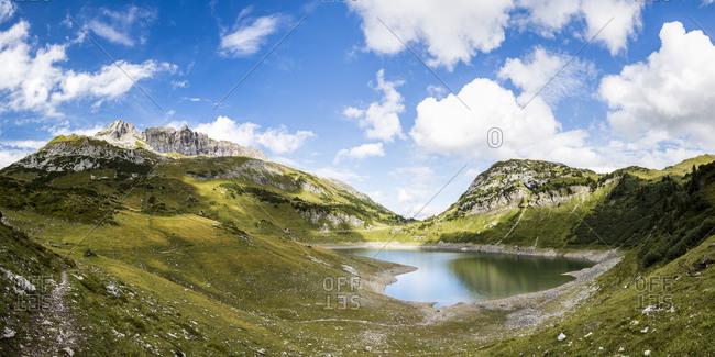 Lake Formarinsee, Vorarlberg, Austria - Offset