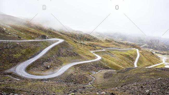 Mountain road Kaunertaler Gletscherstrasse - Offset