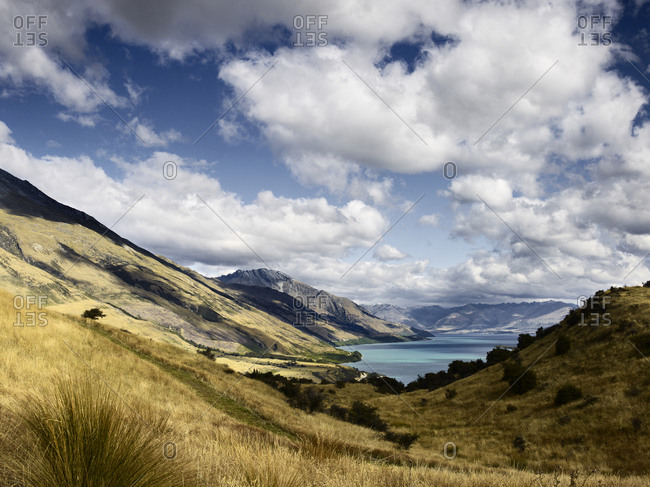 View of Lake Wakatipu and The Remarkables, New Zealand